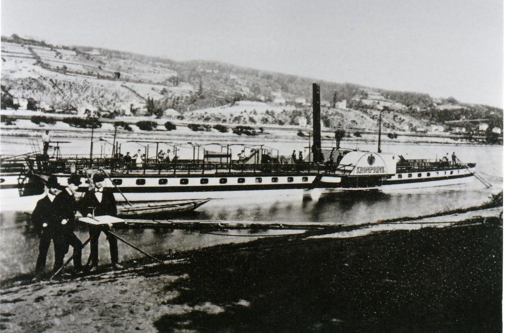 DS Kronprinz an der Werft Blasewitz